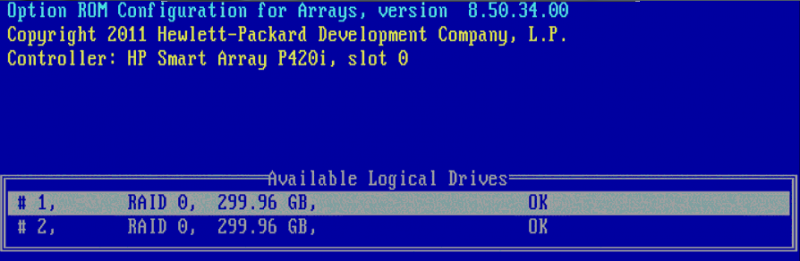 Two logical drives
